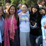 Blissful participants at Shasta retreat 2011