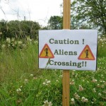 Funny sign Crop Circles UK Tour