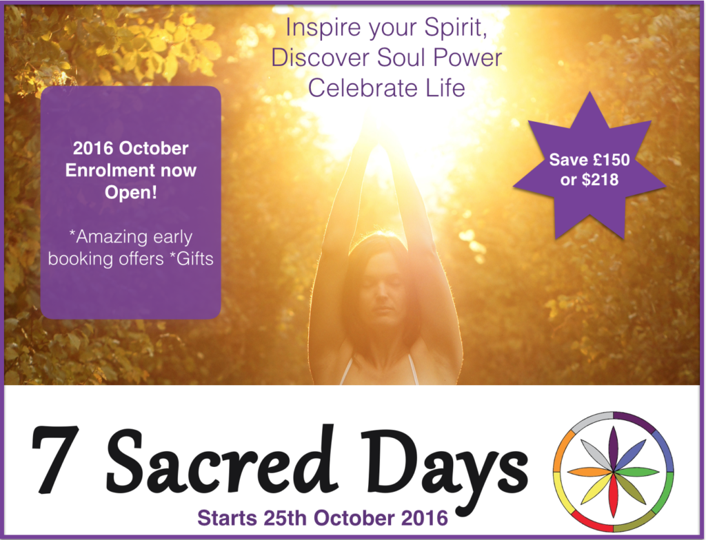 7 Sacred days oct 2016 early booking